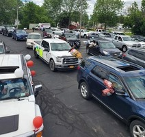 5th Grade Moving Up Day celebrated with car parade