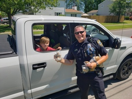 Fifth-graders participate in drive-through celebration